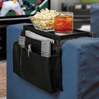 Wholesale Pockets Sofa handrail Couch armrest Arm Rest Organizer Remote Control Holder bag On TV Sofa corrimao Braco Resto