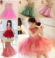 Wholesale DHL Fedex color sequins tutu party dresses Sleeveless U pick color size sequin tutu ballet party dress T