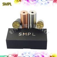 Wholesale SMPL Mod Full Machanical Mods Colorful SMPL Mod e Cigarette Battey Compartment Clone SMPL Mods Fit RDA RBA RDTA Atomzier