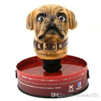 Wholesale 2015 Brand New Brown Ceramic Dog Head Shape Gear Shift Knob for Auto Car