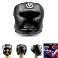 Wholesale Black New Good Headgear Head Guard Trainning Helmet Kick Boxing Pretection Gear New