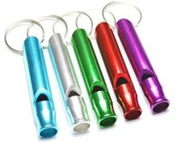 Wholesale Metal aluminium outdoor camping bicycle riding cycling hiking survival whistle for emergency life whistle