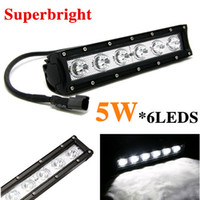 8 Degree 2700lm 11inch 30W 11inch 5W*6pcs Super Bright CREE LED Work Light Bar Driving Offroad Car Lights 4X4 Baot ATV JEEP SUV Spot   Flood   Combo Beam