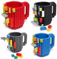 Creativo Bricolaje Construir-en ladrillo tazas Lego Pixel Bloques Mega Bloques KRE-O K'NEX Compatible Ladrillos dibujos animados Bebida de café Copa Bebidas juguetes 9colors