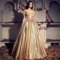 abaya - Formal Evening Dresses Gold Sequin Long Evening Gowns Ball Gown Dresses Abayas Cap Sleeves Appliques Plus Size Abendkleider