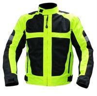 Wholesale Motorcycle racing jackets men O neck jaqueta motorbike motos motociclismo chaqueta moto mesh breathable reflecive black M XXXL