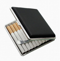 auto accessories - PU Leather Cigarette Cases Smoking Accessories Sticks Auto Cigarettes Storage Boxes Organizer Classical Fashion Personality Authors