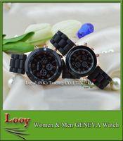 Wholesale Fashion luxury mens watches women men geneva watch rubber candy jelly fashion unisex silicone quartz wrist watches for men women wristwatch