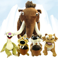 age tigers - Top Fashion Rushed Backpacks Pieces of Ice Age Mammoths Squirrel Sid The Sloth Saber Toothed Tiger Plush Toy Doll Genuine