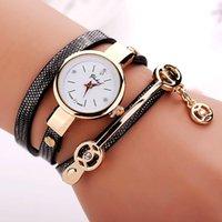 Wholesale New Arrival Litchi Grain Style Leather Watch Women Dress Quartz Watch Fashion Bracelet Watches Relogios Femininos Reloj Mujer
