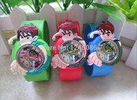 ben 10 - TMC kids slap watches children cartoon ben slap silicone watches for kids