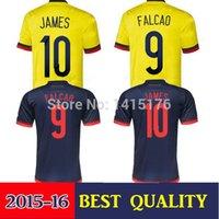 colombia - Thai Colombia soccer jersey JAMES RODRIGUEZ Colombia jersey FALCAO GUADRADO Colombia camisetas de futbol Jersey shirt