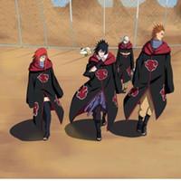 anime trench coat - Naruto Akatsuki Cosplay Cape Dust Cloak Orochimaru Itachi Uchiha Madara Sasuke Pein Robe Costumes Trench Coat