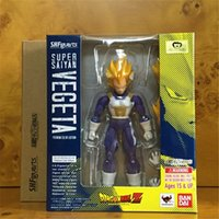 bandai plastic models - Genuine Japanese Anime Dragonball SHF BANDAI Vegeta Action Figure Toys Model Toys SHF Kids Toys Collection Genuine Merchandise