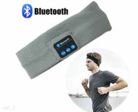 Wholesale Bluetooth Music Headband Stereo Wireless Headset Mens Womens Sports Running Fitness Yoga Stretch Head Wrap Caps Perfect Gifts