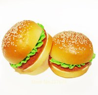 Wholesale 10cm rare squishy Jumbo Big Hamburger Squishy bread model