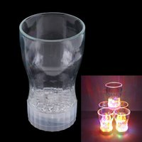 Wholesale New LED Flashing Glowing Cola Water Cup Color Change w Switch Control hv5n