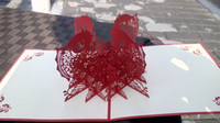Wholesale 3d Pop up greeting card Every year there is a fish Chinese style gift Paper cut Handmade