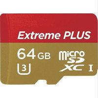 Wholesale 64GB GB Extreme Plus MicroSDXC UHS Card With Adapter Class Micro Memory Card TF Card for Samsung Galaxy Sony LG Smartphone