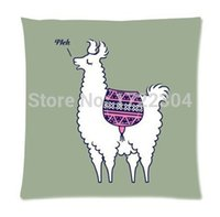 alpaca knitting pattern - Home Decor Pillowcases Pink Aztec Alpaca Pattern Seat Cushion Case Square Pillowcase x18 Inch Twin sides