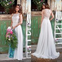 amanda wedding dress - 2016 Lace Vintage Wedding Dresses Beach Bohemian Boho Plus Size Sweep Train Beaded Amanda Wyatt Bridal Gowns