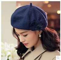 anise flower - new fashion winter beret cap warm hat anise flowers hats