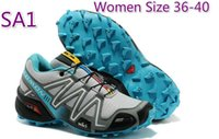 Wholesale Mens Outdoor Casual shoes Salomon Retailer FRhiking shoes SPEEDCROSS3 CS water resistant upper climbing shoes Lace Pocket Sports Shoes