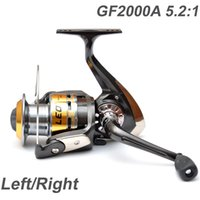 Cheap 3Ball Bearings Left Right Interchangeable Collapsible Handle Fly Fishing Reel Spinning Reel GF2000A 5.2:1