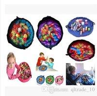 toy organizer box - 2015 color kid cm play mat toy storage bag Beach storage bag picnic toys storage bag Blanket Rug Boxes Lego Toys Organizer TOPB3677