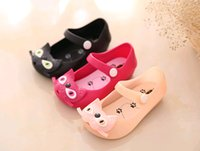 Wholesale 2015 New fashion CAT jelly girl shoes fashion sandals for mini melissa bow shoes small children shoes toddler shoes sandals