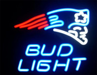 Wholesale BUD Light Real Glass Neon Sign Beer Bar