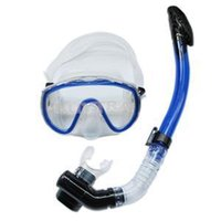 Wholesale 2014 New Fashion Outdoor sports Snorkel Water Diving Masks Set Brand Silicone Dry Scuba Diving Snorkeling