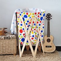 solid wood wardrobes - Rural cloth art furniture bathroom folding laundry basket