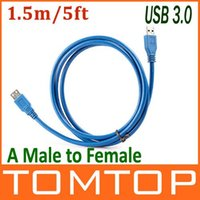 Wholesale 1 m ft USB A Male to Female Extension Data Sync Cable Cord Gbps Drop Shipping order lt no track