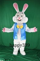 easter bunny costumes - Easter Bunny Mascot Costume Cartoon Clothing Wearing a blue dress Adult Size Carnival Costume Fancy Dress Party Factory Direct