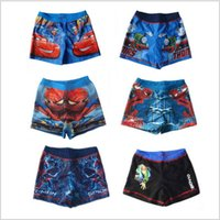 Cheap 2015 AAA+ quality 11 color 5 size mcqueen car spiderman thomas kid boy girl unisex swimm suit cartoon Handsome swim trunks TOPB1788 200PCS