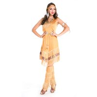 native american - sexy Special Offer Rushed Native American Costume Adult Indian Princess Pocahontas Halloween Fancy Dress Nc