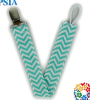 Wholesale 27 colors COTTON Baby Chevron pacifier clip Baby out with the anti Pacifier chain Safety Accessorie Baby Swings Baby Clip pieces RN