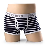 Wholesale Fashion Brand Stripe Design Mens Underwear Boxers Cotton Letter Printed Underpants Colorful Sexy Comfortable Men s Shorts PB33