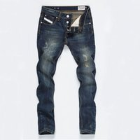 Wholesale New Disel Brand Mens Jeans High Quality Ripped Jeans For Men Straight Printed Jeans Fashion Designer Jeans