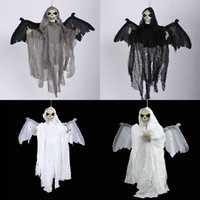 bat costume wings - Halloween Electric Skeleton Vampire Bat with Horror Voice shine eye moveable wings halloween Costumes Hung ghost skeleton decorations