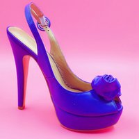 adhesive images - Royal Blue Sandal For Women Soft Leather Rose Women Sandals Made to order Shoes Ladies Real Image High Heel Sapatos Femininos Plus Size US14