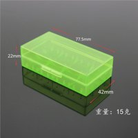 plastic storage - Plastic Battery Case Storage Box Battery Holder Box For MNKE Battery VTC5 VTC4 Battery in Stock