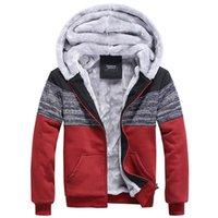 baseball pillow - Hoodies Male Jacket New Winter Couple Jacket Thick Velvet Warm Hoodies Sweatshirt Men Tide Stitching Sport Baseball Coat FG1511