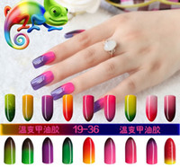 beauty color led - High Quality Color Changing per Temperature Gelish Nail Polish ml LED Nail Beauty Colors Long Lasting Nail Gel