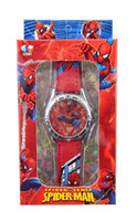 Wholesale spider man Monster High Despicable me watch Frozen watches with boxes Snow Queen Wristwatches Princess Anna Elsa wrist watch best gift
