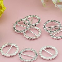 Wholesale 10pcs Rhinestone Round Diamonds Buckle Sliders For Clothes Bags and Handlace DIY Clothes Decorative Buttons