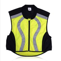 bicycle safety clothing - Breathable Reflective Cycling Vest Protecetive Jersey Safety Warning Clothing Bicycle Jersey Mountain Bike Vest For Men Women