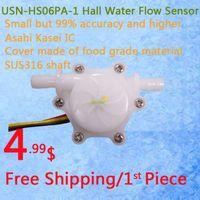 Wholesale USN HS06PA mm Hose Barb End Hall Water flow Sensor Turbine Flow Meter L min Error Ideal for Drinking Machine Water