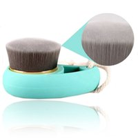 Wholesale New Soft Facial Mild Fiber Face Clean Brush Wash Deep Cleansing Pore Care Brush Green